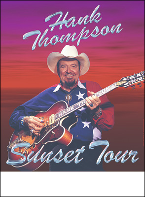 Hank Thompson Concert Poster