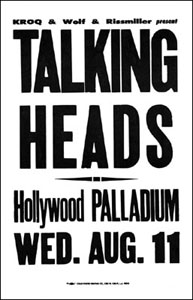 Talking Heads Concert Posters