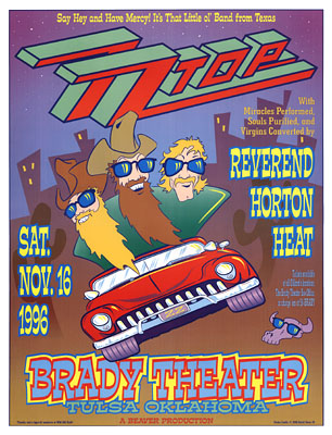 ZZ Top and Reverend Horton Heat Concert Posters