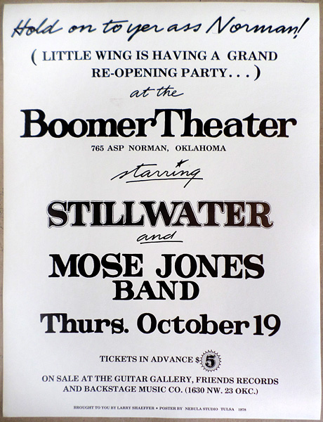 concert posters tulsa poster project archive of tulsa area concert posters handbills and flyers. Black Bedroom Furniture Sets. Home Design Ideas